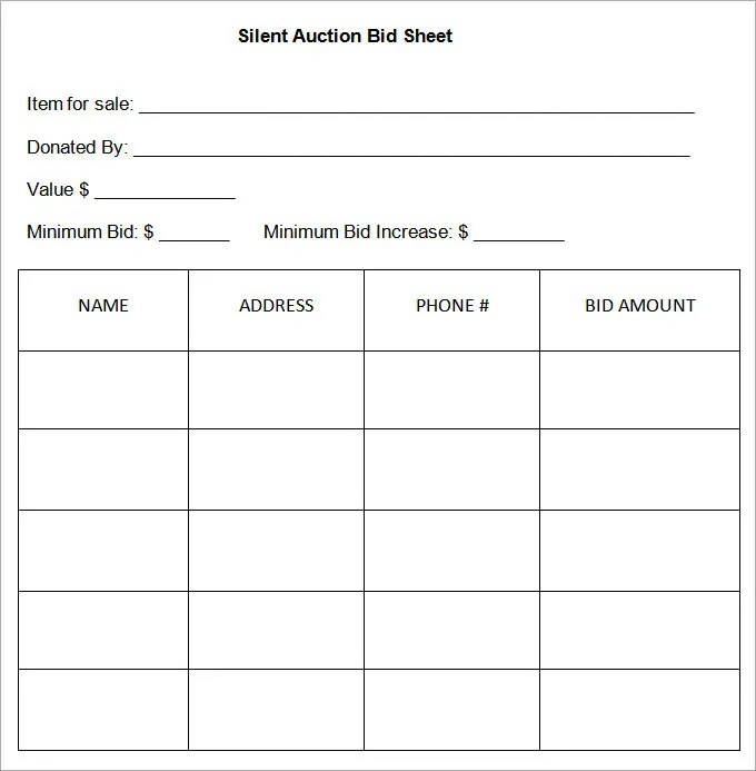 free bid sheets - Jolivibramusic