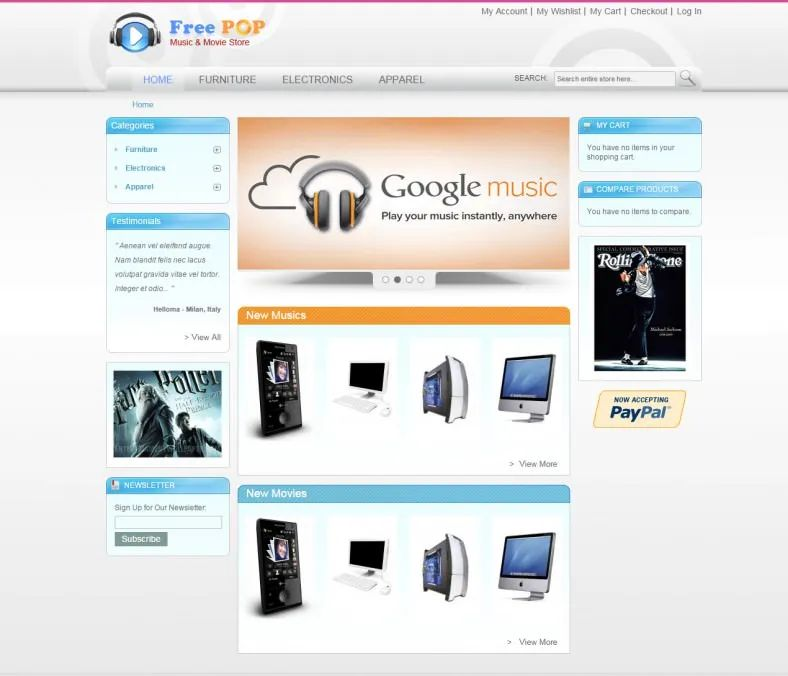 html5 ecommerce website templates free download