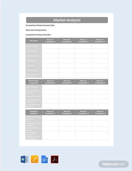 24+ Sample Market Analysis Templates - Word, PDF Free  Premium