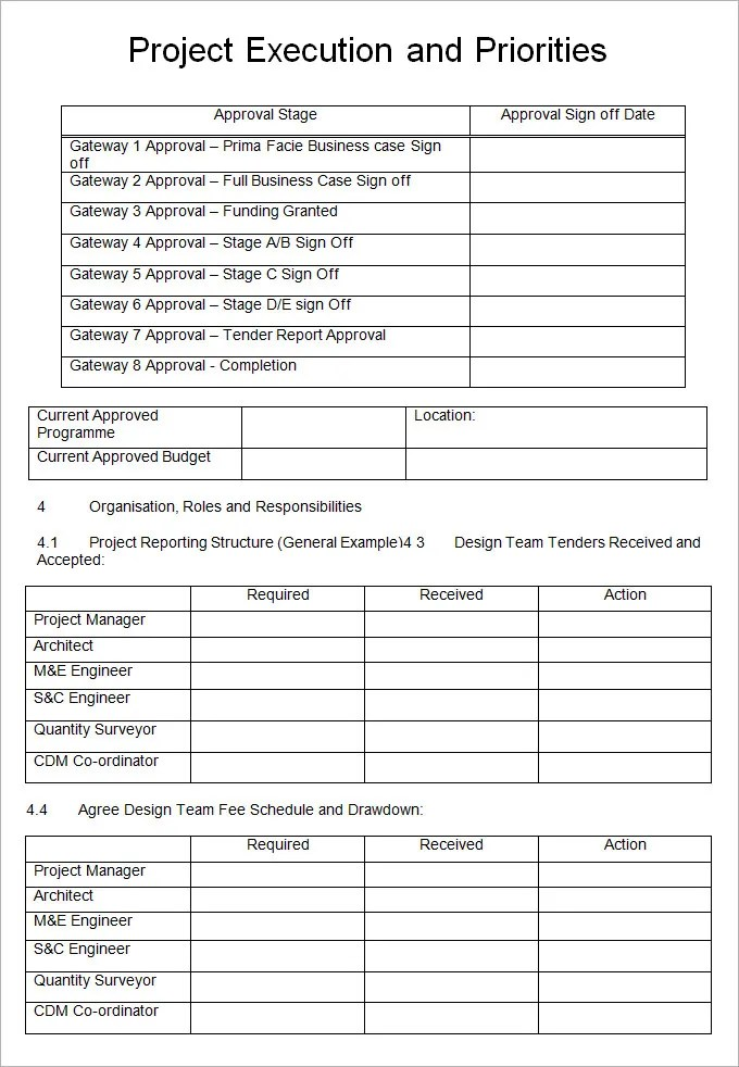 Project Execution Plan Template - 9 Free Word, Pdf, Excel Documents - Project Plan Sample