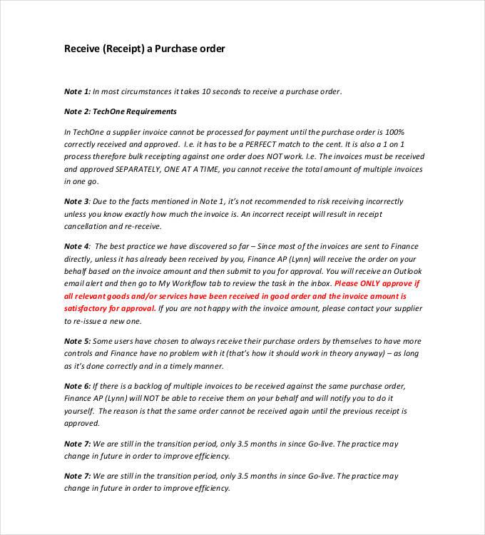 34+ Purchase Order Examples - PDF, DOC Free  Premium Templates