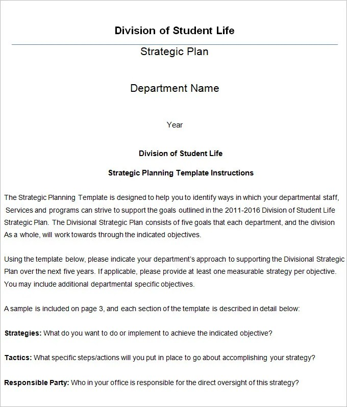 Strategic Life Plan Template - 5+ Free Word,PDF Documents Download
