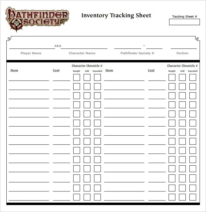 11+ Tracking Sheet Template - Word, Excel, PDF Free  Premium - tracking sheet template