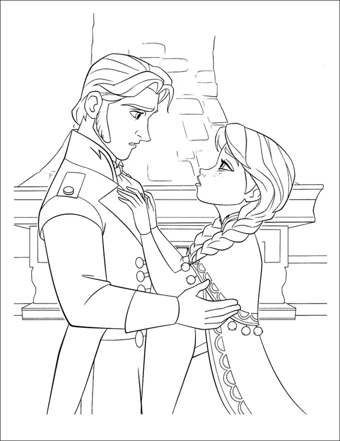 Frozen Characters Coloring Pages