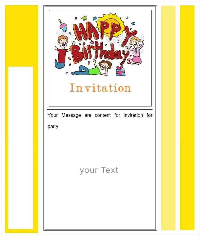 27+ Best Blank Invitation Templates - PSD, AI Free  Premium Templates - free blank invitation templates