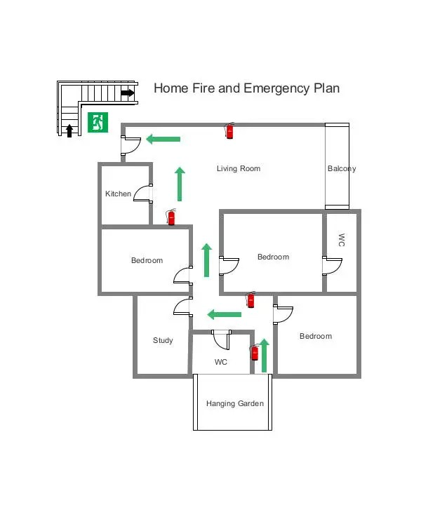 7 + Home Evacuation Plan Templates - Google Docs, MS Word, Apple