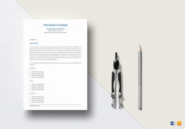 Job Analysis Template - 12+ Free Word, Excel Documents Download - job task analysis template