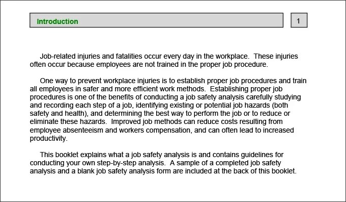 10+ Sample Job Safety Analysis Templates - PDF, DOC Free  Premium - job safety analysis form template