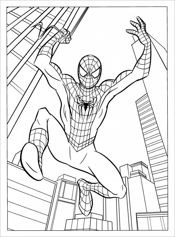 30+ Spiderman Colouring Pages - Printable Colouring Pages Free