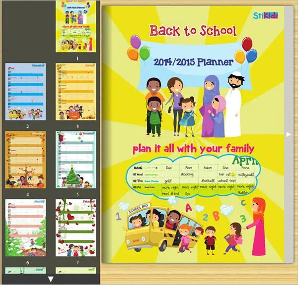 Family Calendar Template -15+ Free PSD, EPS,AI Format Download - kids calendar template