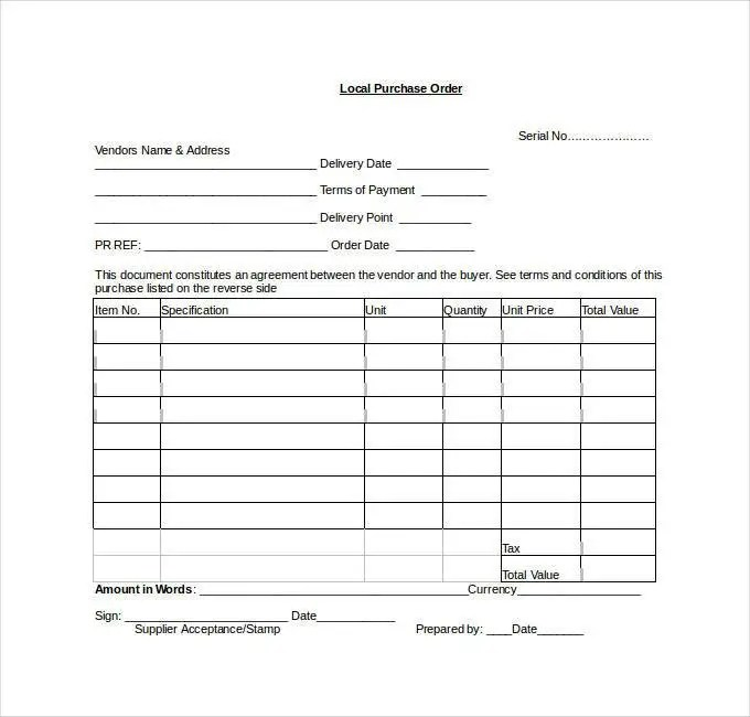 Purchase Order Template - 16++ Free Word, Excel, PDF Documents - purchase order template microsoft word