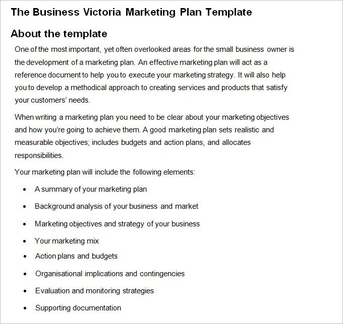 Marketing Business Plan - Free Word PDF Documents Download Free - marketing business plan template