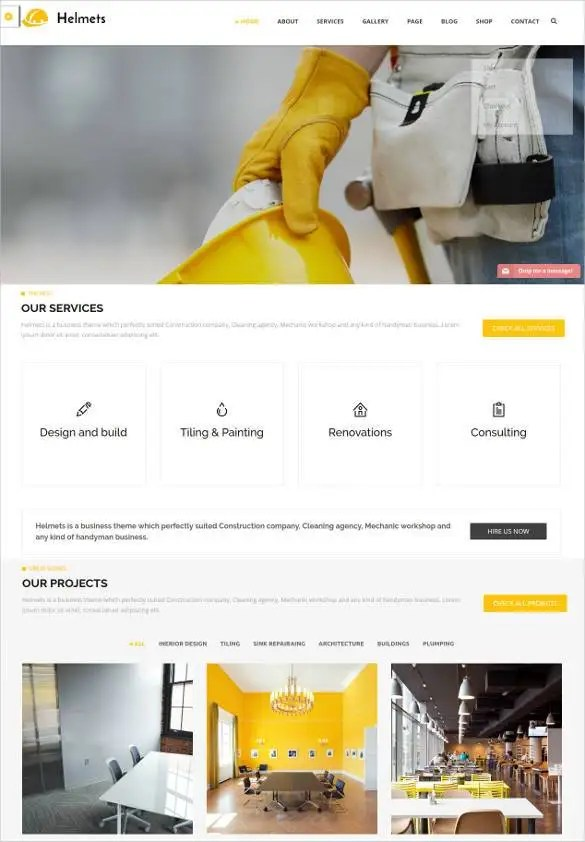 Wordpress Free Page Builder 42 Engineering Website Themes Templates Free