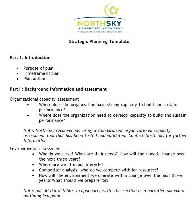 Non-Profit Strategic Plan Template - Free Word, PDF Documents - free sample strategic plan template