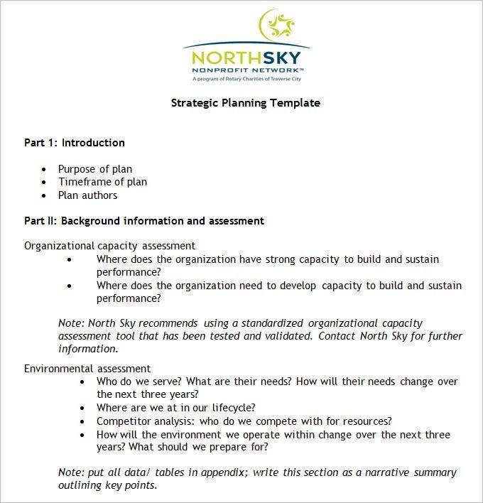 sample non profit business plan template