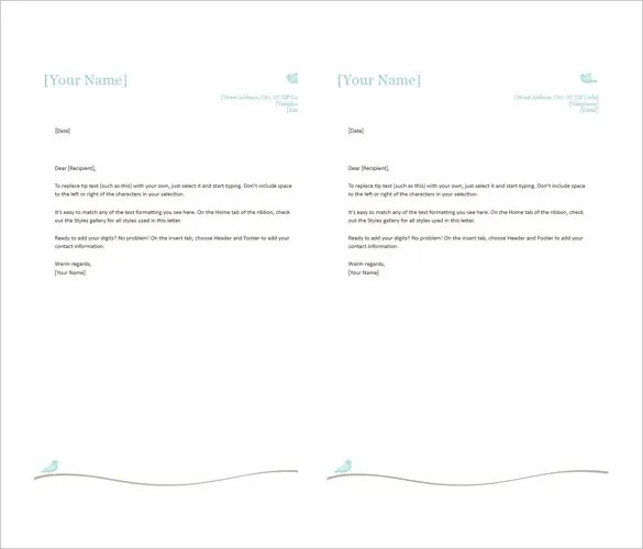 38+ Free Download Letterhead Templates in Microsoft Word Free