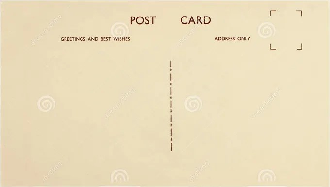 Blank Postcard Template - 34+ Free PSD, Vector EPS, AI, Format - free postcard template download