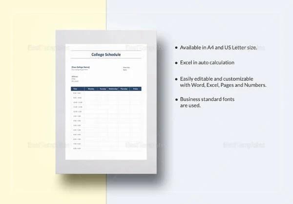18+ Study Schedule Templates - PDF, DOC Free  Premium Templates