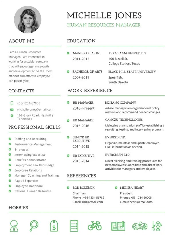 Best Cv Templates For Free - Best Resume Word Template