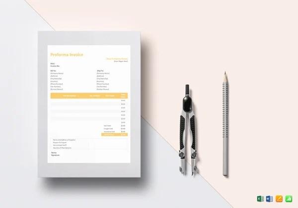 12+ Proforma Invoice Templates - PDF, DOC, Excel Free  Premium - Proforma Invoice Template Pdf