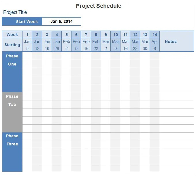 project timetable template - Canasbergdorfbib