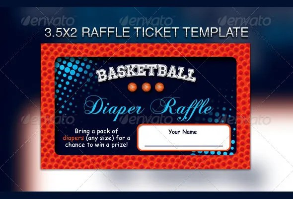 Raffle Flyer Template \u2013 24+ Free PSD, EPS, AI, InDesign Format - Ball Ticket Template