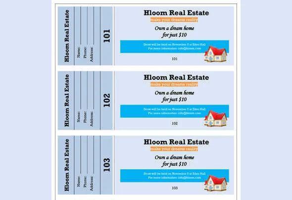 raffle ticket flyer template