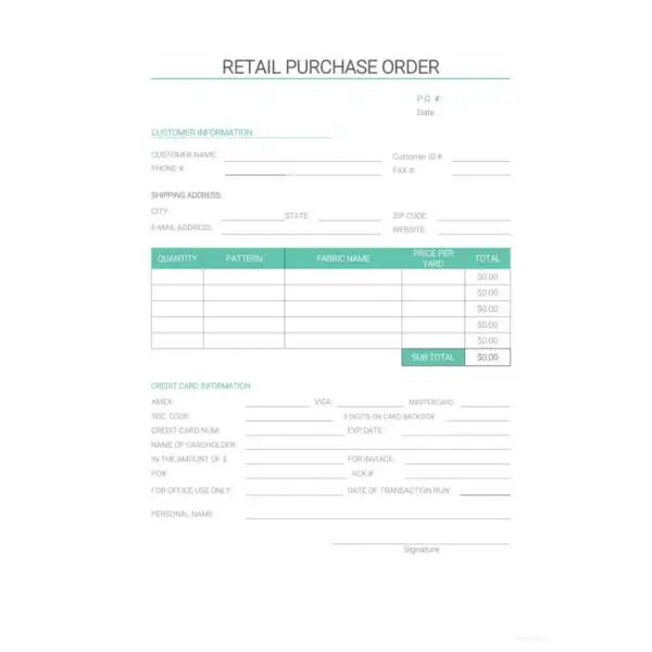 34+ Purchase Order Examples - PDF, DOC Free  Premium Templates - lpo template
