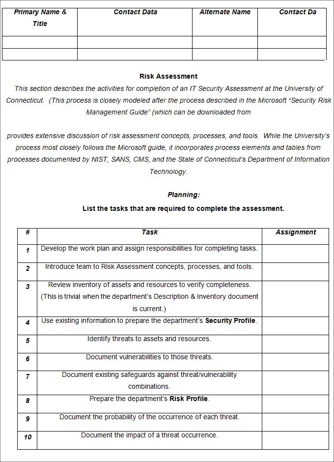 Risk Analysis Template - Free Word Documents Download Free - sample quantitative risk analysis