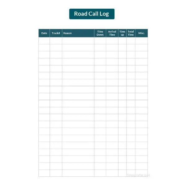 15+ Call Log Templates - DOC, PDF, Excel Free  Premium Templates