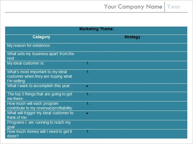 Annual Marketing Plan Template - Free Word, PDF Documents Download