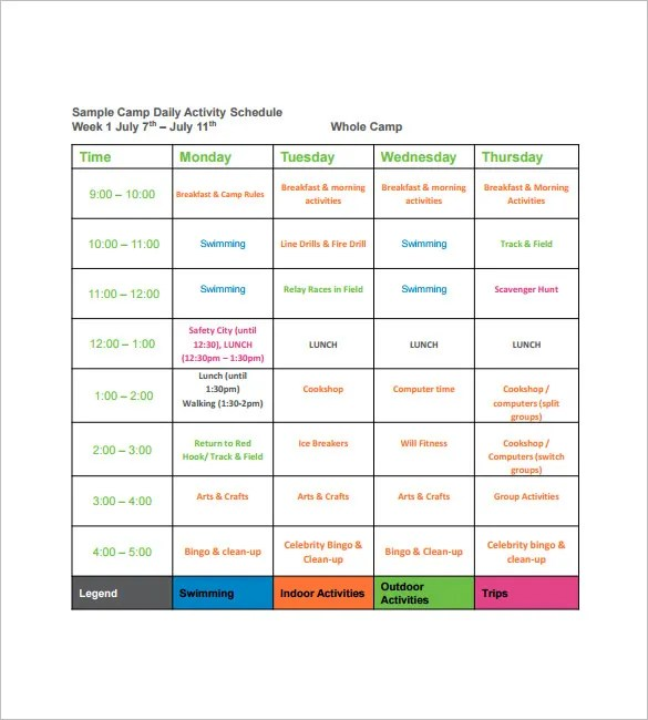 Sample Schedules - radioincogible