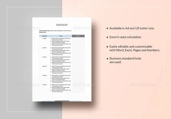 Event Checklist Template - 15+ Free Word, Excel, PDF Documents - sample event checklist template