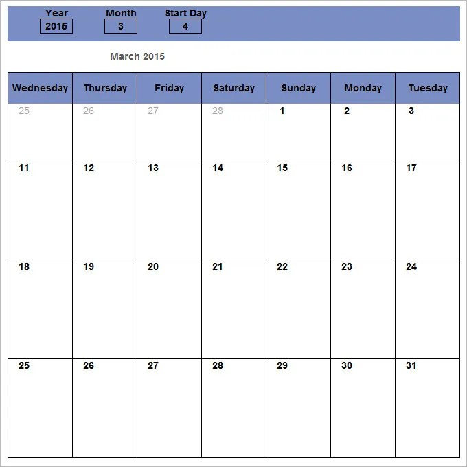 Monthly Schedule Template - 13+ Free Excel, PDF Documents Download