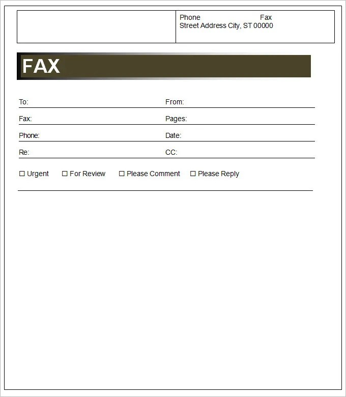 Cover Sheet Template - 3 Free Word Documents Download Free