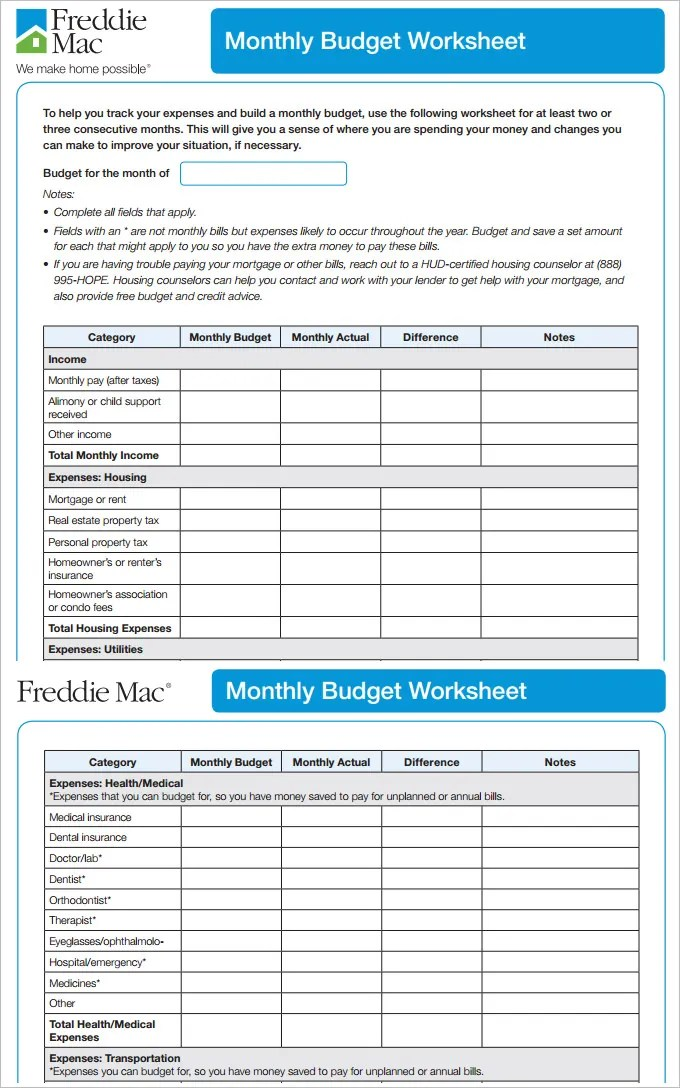monthly budget template word datariouruguay - sample monthly budget template
