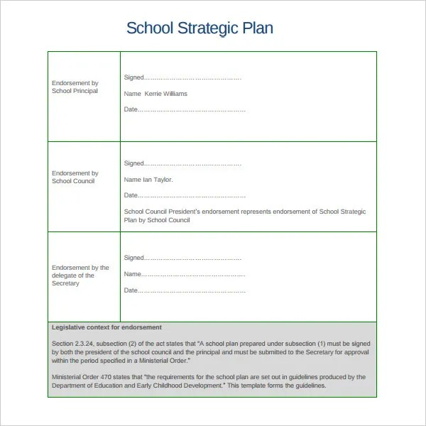 5+ Sample School Strategic Plan Templates - DOC, PDF Free