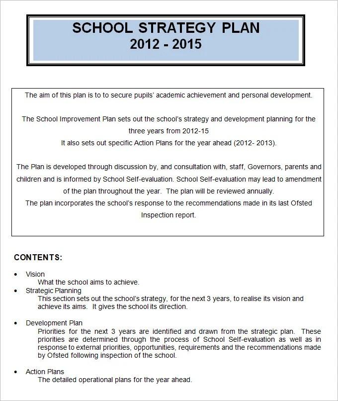 4+ School Strategic Plan Template - Free Word, PDF Documents