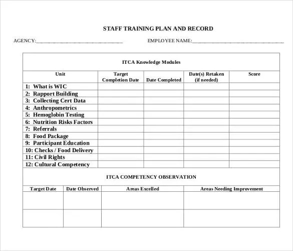 Training Plan Template - 23+ Free PDF Documents Download Free - Sample Training Plan