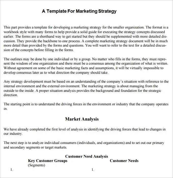 Strategic Marketing Plan Template - 9+ Free Word, PDF Documents