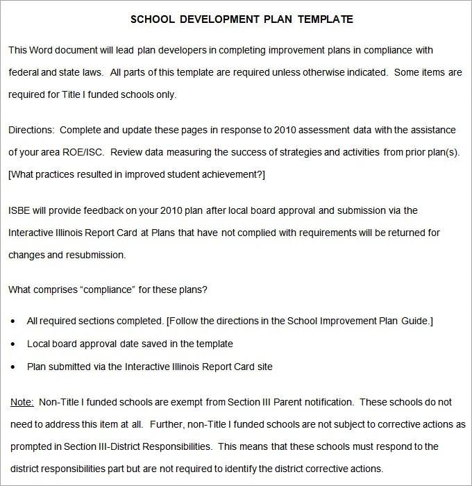 School Development Plan - 9+ Free Word, Google Docs, Pages Documents