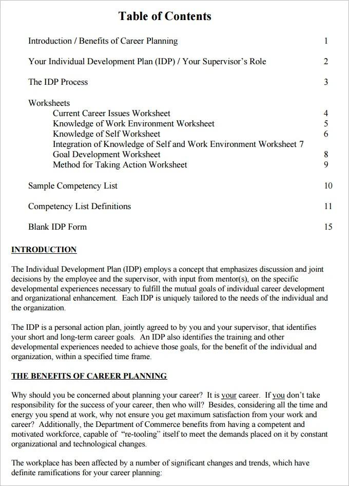 3+ Self Development Plan Template - Word, PDF Free  Premium Templates