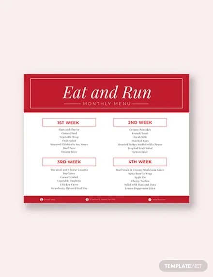 31+ Menu Planner Templates - Free Sample, Example Format Download