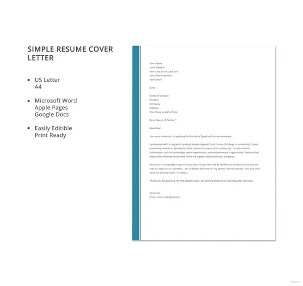 29+ Word Cover Letters Free Download Free  Premium Templates - resume cover