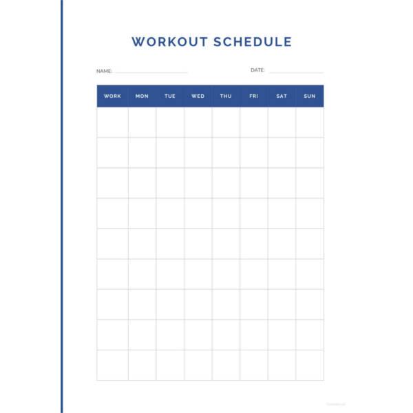 22+ Workout Schedule Templates - PDF, DOC Free  Premium Templates