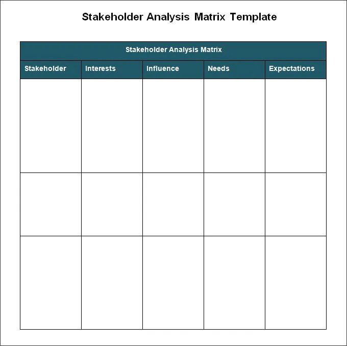 Stakeholder Analysis Template - 7+ Free Word, Excel, PDF Documents