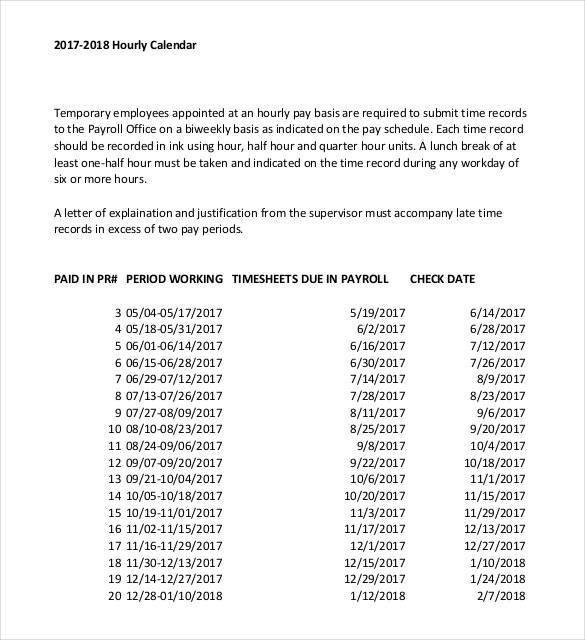 Hourly Calendar Template Free Printable Blank Daily Calendar Hour