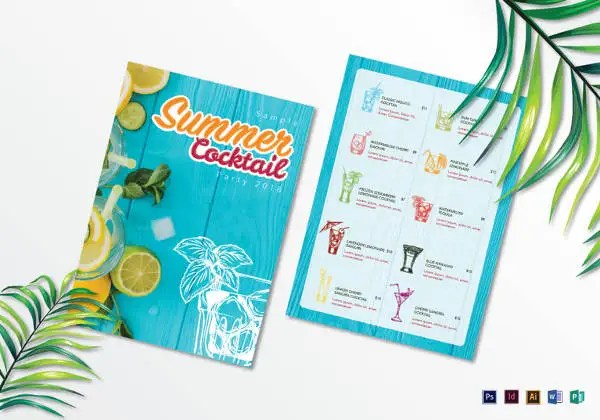 Sample Drink Menu Template Sample Drink Menu Template Staruptalent