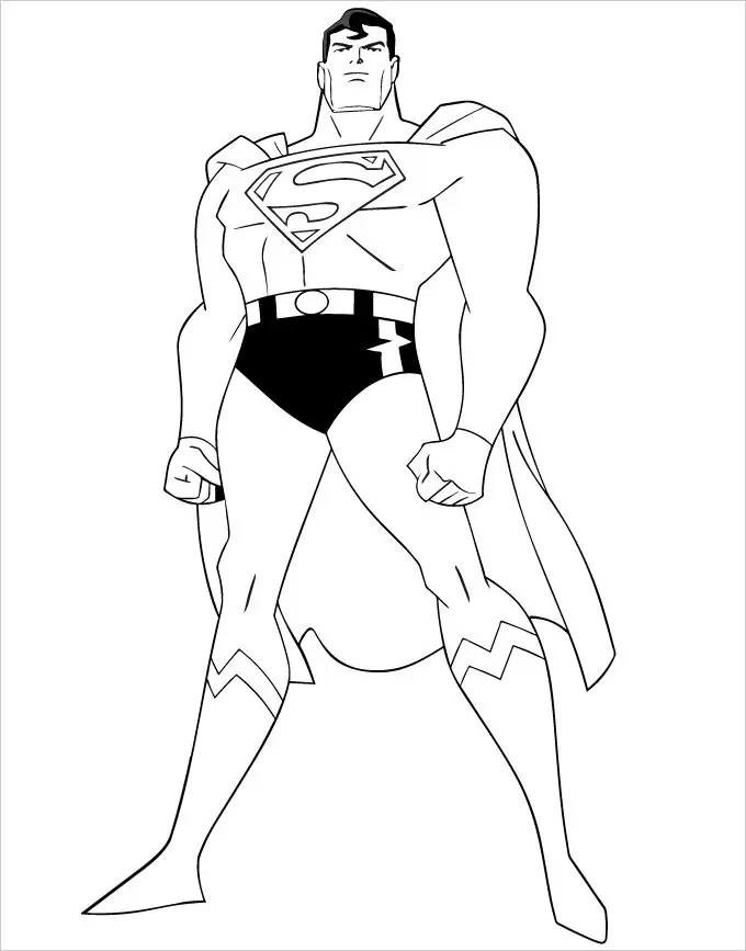 Superhero Coloring Pages - Coloring Pages Free  Premium Templates