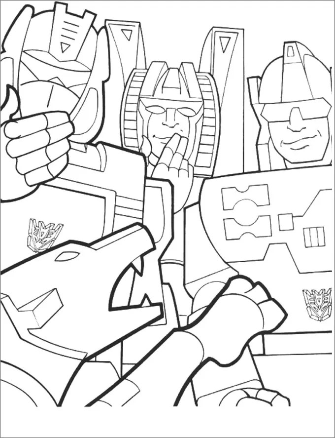 30+ Transformers Colouring Pages Free  Premium Templates